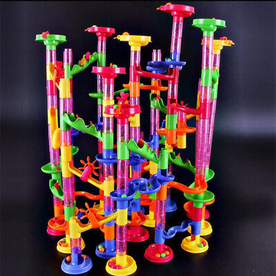Building Run Kid Construction Blocks Creative Race Children Boy Marble Game New (Marble Run Game)