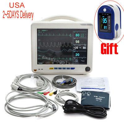 Professional 12 Icu Ccu 6-parameter Patient Monitor Vital Sign Cardiac Medical