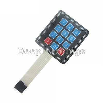 10 Pcs 4 X 3 Matrix Array 12 Key Membrane Switch Keypad Keyboard For Arduino