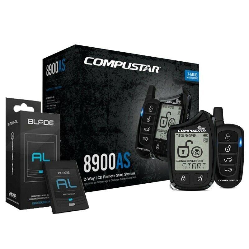 Compustar CS8900-BL 2-Way Remote Car Auto Start & Security System & Blade Bypass