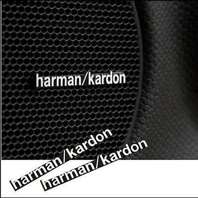 6 Pcs Harman Kardon Sports Car Audio Speaker Badge Decals Sticker All Series