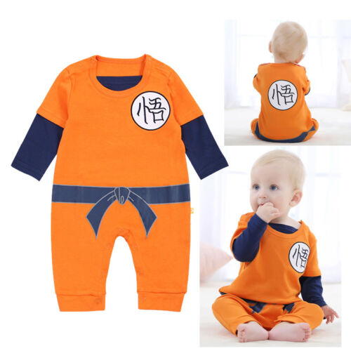 Dragonball  Goku Kostüm Baby Set Outfit Strampler Romper Outfit Cosplay