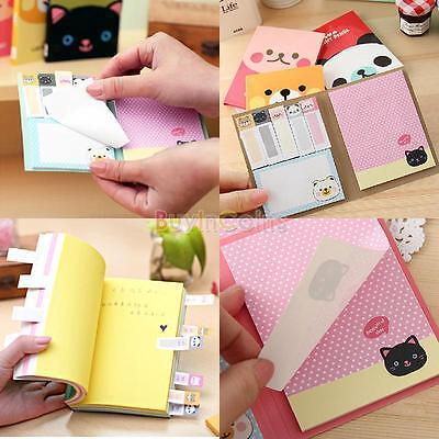 Cute Animals Sticker Post-It Bookmark Point It Marker Memo Sticky Notes on Rummage