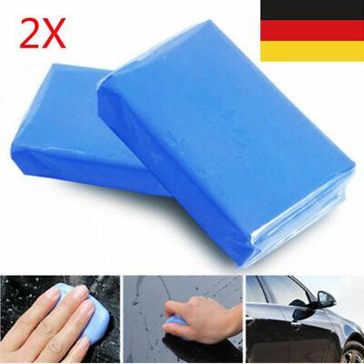2*Lack Reinigung Polier Knete Lackreiniger für Auto Motorrad Teer Entferner
