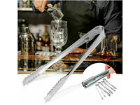 5 x STAINLESS STEEL ICE CUBE TONGS SWEET CANDY GRABBERS BBQ KITCHEN PARTY BAR.**