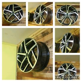 Golf style alloy wheels
