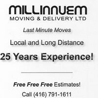 MOVERS WITH 25 YEARS EXPERIENCE!!!