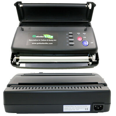 Pro New Black Tattoo Transfer Copier Printer Machine Thermal Stencil Paper Maker