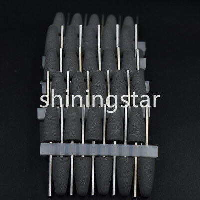 30pcs Dental Lab Silicone Rubber Polishers 2.35mm Shank Base Burs Diamond Polish