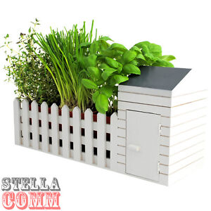 Indoor Garden Allotment Plant Pot Planter Herb Window Box Wooden Garden Shed