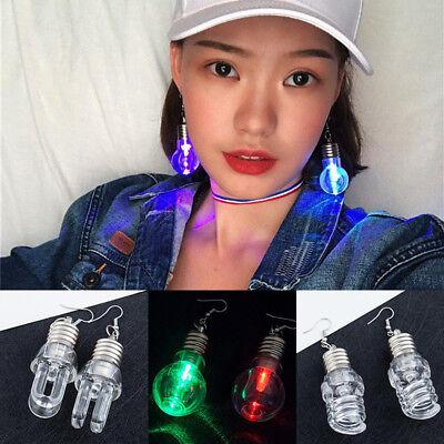 1 Pair Women Cool Light Up Led Blinking Ear Dangle Earrings For Party Xmas Club - Light Up Earrings