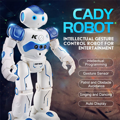Remote Control Robot For Kids (JJRC R2 Smart Walking Robot Gesture Remote Control RC Toys Friends Gift for)