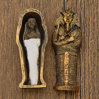 Egyptian Mummies Figure Mummy in a Sarcophagus Resin Statue Home Ornament Gift - Egyptian Gifts
