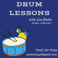 Drum/Percussion Lessons in Chamberlains!!