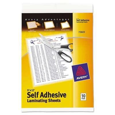 Avery Clear Self-adhesive Laminating Sheets 3 Mil 9 X 12 10p 077711736030