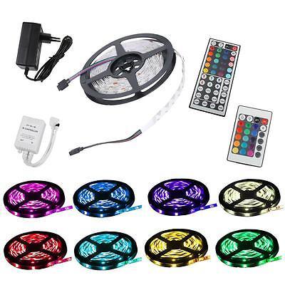 1m-30m 5050 SMD 30 60 LED RGB Leiste Strip Streifen Band+ Fernbedienung+Netzteil