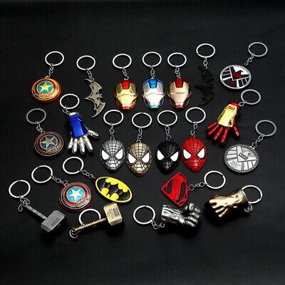 Superhero Keychain Key Cap Batman Superman Keychain Charm Key Holder Iron Man