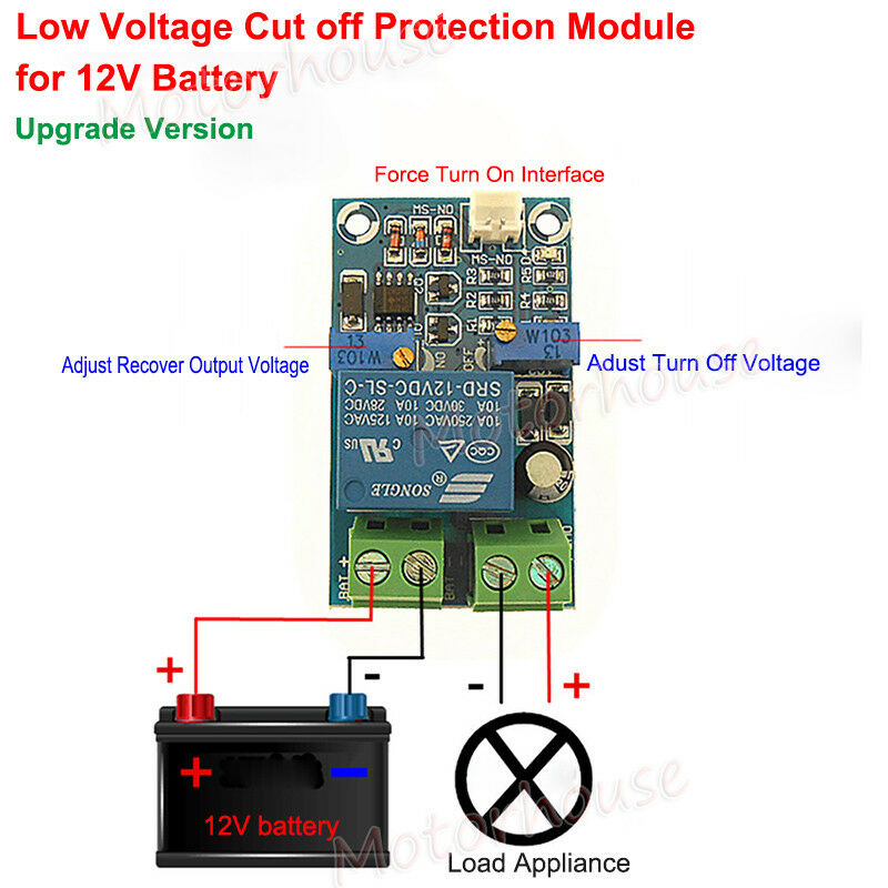 Details about Low Voltage Cut off Excessive Protection Module Controller  For 12V Battery 10A
