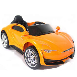 Tesla Style 12V Ride-On Car w/ leather seats *BRAND NEW*