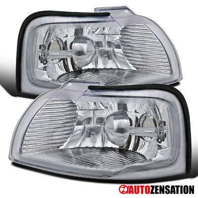 For 96-97 Ford Thunderbird Mercury Cougar Clear Corner Turn Signal Lights Lamps