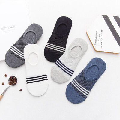 Mens Invisible Set - 5 Pairs/Set Men Invisible No Show Nonslip Loafer Boat Ankle Low Cut Cotton Sock