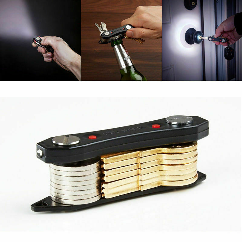 Smart Key Holder Compact Keychain Organizer With LED Lights