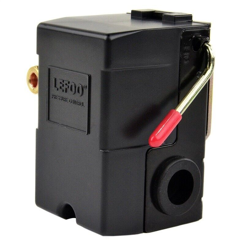 Lefoo H/D Pressure switch for air compressor 95-125 w/Unloader and on/off lever