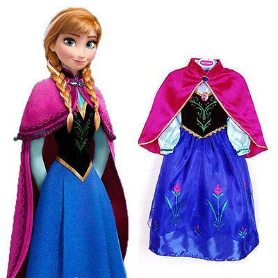 Girls Clothes Elsa Anna Christmas Costumes Snow Queen Princess Kids Party Dress