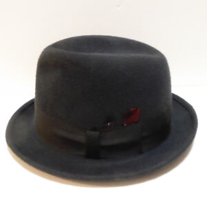 MEN'S VINTAGE 1940/50s STETSON BLACK FEDORA HAT IN HAT BOX