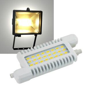led r7s leuchtmittel 118mm 660lm 230v 8w fluter halogenstab ersatz stableuchte ebay. Black Bedroom Furniture Sets. Home Design Ideas