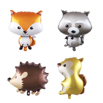 Woodland Animal Fox Squirrel Raccoon Skunk Balloons, Party Decoration - Fox Party Supplies