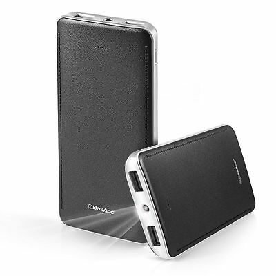 BasAcc 10000mAh Battery Charger USB LED Power Bank Pack For Cell Phone Mobile