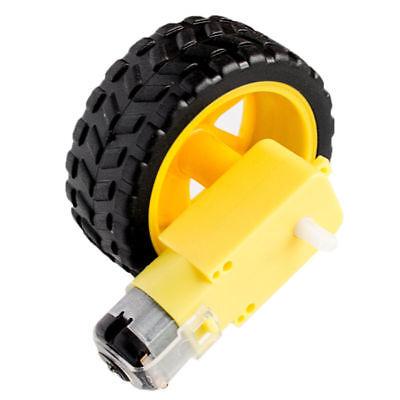 Smart Car Auto Rad Reifen Tire Wheel DC 3-6V Motor Gear für Arduino