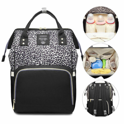 Diaper Bag Backpack Leopard Maternity Nappy Baby Bag Organizer Large Waterproof Baby