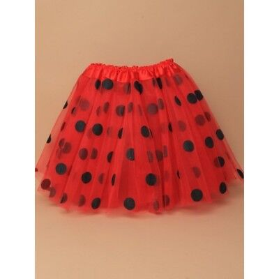 Red and Black Polkadot Tutu Fancy Dress Skirt 3 Layers Thick Tutu - Red And Black Tutu Skirt
