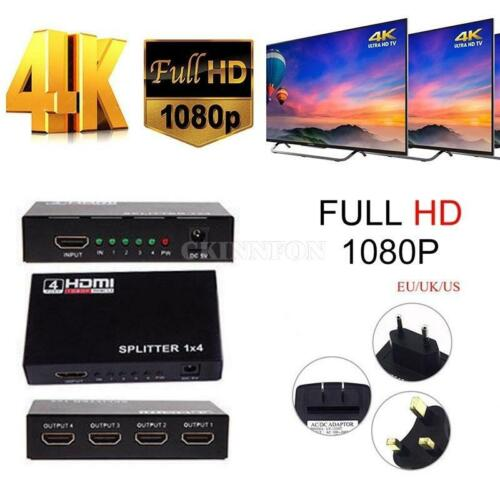4k HDMI Cable 1 In 4 Switch Switcher Splitter Selector Adapter HUB 1080p Bluray