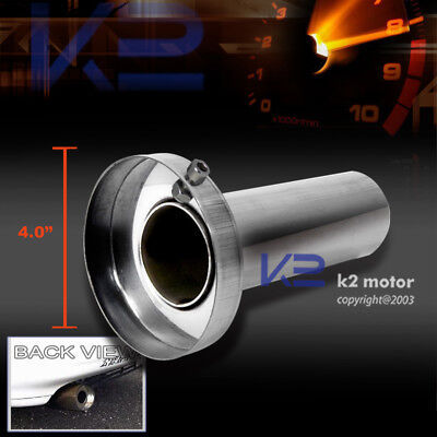 "Removable Silencer 4"" Tip Muffler Exhaust Stainless Steel"