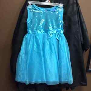 Elsa dress and shawl slippers crown only worn once