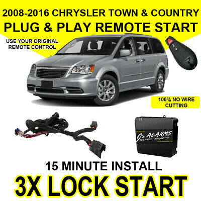 2008-2016 Chrysler Town & Country Remote Start Add On 3X Lock Factory Key
