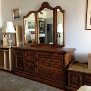 Large bedroom dresser with beautiful mirror