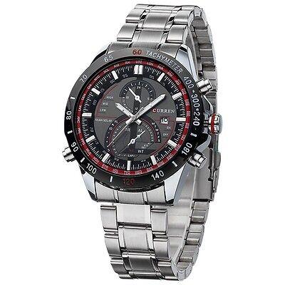 Steel Date Display (CURREN Modern Men's Stainless Steel Date Display Silver Waterproof Wrist)