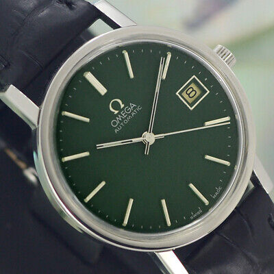 VINTAGE OMEGA  AUTOMATIC 23 JEWELS CAL.1012 DATE ST.STEEL ANALOG DRESS MEN WATCH