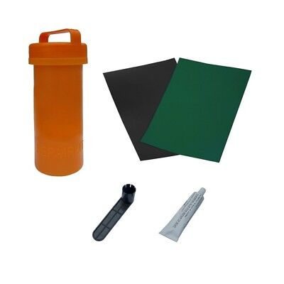 ALEKO Complete Inflatable Green Boat Repair Kit 3 Patches Glue Valve Wrench