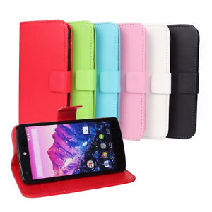 NEXUS 5 BRAND NEW COLOURFUL LEATHER WALLET FLIP STAND CASES