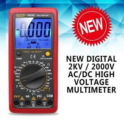 1pc New Digital 2000v Acdc High Voltage Multimeter Voltmeter Tester