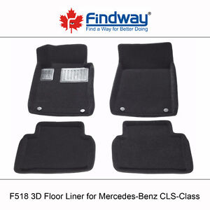 All weather 3D Floor Liners for 2006-2010 Mercedes-Benz CLS