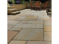 Buff Blend Sandstone Paving | 22mm Calibrated | 16.06m² Patio Pack £345 *FREE NATIONWIDE DELIVERY*