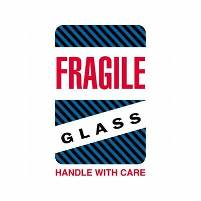 Box Packaging Fragile - Glass Handle With Care Labels 4x6 500roll 1 Roll