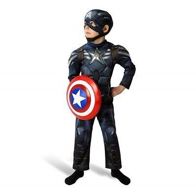 Costume di Carnevale Bambino Capitan America Deluxe Marvel Rubie's art. 887753