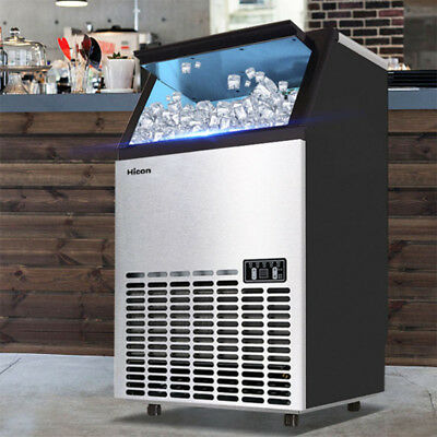 Commercial Undercounter 99-110lbs Ice Machine Maker 110v Wooden Box Coolest